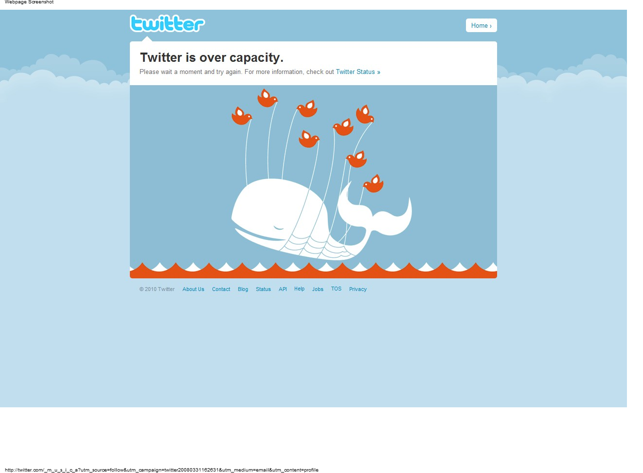 Twitter Birds carrying a whale